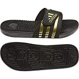 adidas Unisex-Erwachsene Adissage Sneaker, Core Black/Gold Met./Core Black, 51 1/3 EU
