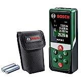 Bosch Laser Entfernungsmesser PLR 30 C (App Funktion, 3x AAA Batterien, Schutztasche, Messbereich:...