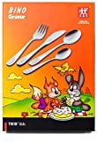 ZWILLING 07009-210 Kinderbesteck-Set Bino, Für Kinder ab 3 Jahren, 18/10 Edelstahl, 4-teilig, mit...