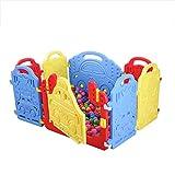 LITIAN Kinderlaufstall Zaun Stadt Kinderlaufstall Baby-Kleinkind-Zaun, ohne Ozean Balls (Dark 6 + 2...