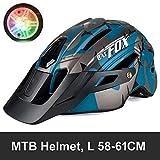 IAMZHL Fahrradhelm Fahrradhelm Casco Ciclismo Integrierter Fahrradhelm Road Mountain MTB Helm 56-62...