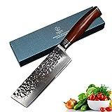YARENH Damastmesser Kchenmesser 17cm - Damaszener Nakirimesser Aus Japan Damaststahl - Scharf Messer...