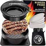 Mountain Grillers Burgerpresse Patty Maker   Handliche antihafte Form mit 40 STK backpapier für...
