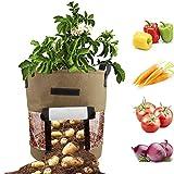 Warooma Pflanzbeutel, 10 Liter, Kartoffelbeutel, Stabiler, atmungsaktiver Stoff, Garten,...