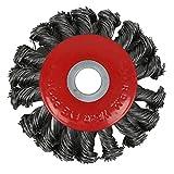 perfeclan Professional Topfbürste Stahl gezopfter Draht für Winkelschleifer - 125mm