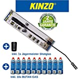 Kinzo K0318 Unkrautbrenner Unkrautvernichter 80cm, inkl 10 Butangaskartuschen je 227g, Gasbrenner...