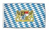 Flaggenfritze Fahne Flagge Deutschland Bayern mit Lwe 30 x 45 cm