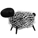 Sheepi - Das magnetische Büroklammerspender Schaf - schwarz mit weißen Büroklammern - Der...