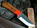 DMZ Details zu Jagdmesser-Bowiemesser-Outdoormesser-Carbonstahl-Handmade-Holzgriff- (AB9100)