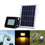 Outdoor Solar Light 54 LED Solar Powered Sensor Warm White Flutlicht im Freien wasserdichten IP65...