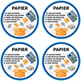 Papiermüll Aufkleber mehrsprachig 4er Pack für Mülltrennung Aufkleber Mülltonne Abfalleimer Set...
