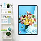 YuanMinglu Nordic Garten Rose minimalistischen Dekoration wandkunst leinwand Poster und leinwand...