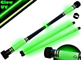 MOONSHINE Profi Devilstick Set (GLOW In The DARK) Holz Devil stick Pro inkl. Holz Handstäbe mit 2...