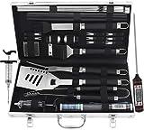 grilljoy Grill Werkzeugset mit Geschenkverpackung, 25 pc Edelstahl Grillzubehr mit hitzebestndigem...