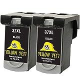 Yellow Yeti Ersatz für Canon PG-37 Druckerpatronen Schwarz kompatibel für Canon Pixma MP210 MP220...