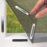 EASYmaxx Fenster-Moskitonetz mit Magnetbefestigung | Zuschneidbar, für fast alle Fenster |...
