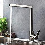 AXWT Moderne Küchenarmatur 304 Edelstahl Kalte Vorläufe Hahn 7 Wörter Drehen Platz Sink...