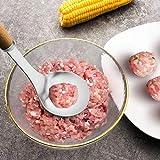 Fiaoen Squeezer 304 Edelstahl DIY Fleischklöschen Löffel Küche Fleischklöschen Squeezer...