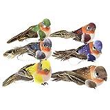 Demiawaking 12pcs künstliche Schaum Feder Vögel DIY Handwerk Ornament Hausgarten Dekor