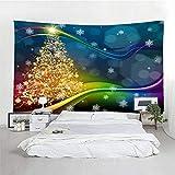 MSHTXQ Weihnachtstapisserie Schneeweihnachtsdekoration Wanddekoration Mandala...