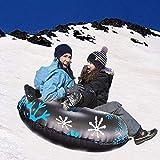HOTEU Komisch Aufblasbares Schneerohr Robuster Frostbeständiger Großer Schneeschlitten mit Griffen...