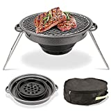 LCM Picknickgrill, Portablecharcoal Grill Faltbare Werkzeugsätze, Charcoal Barbecue Grill...