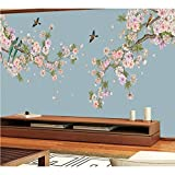 Pbldb Neue Stil Schlafzimmer Wandverkleidung Moderne Vintage Rosa Blumentapete Tropische Vögel...