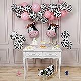 PartyWoo Kuh Party Luftballons, 58 Stück Bauernhof Party Luftballons Satz von Kuh Ballons,...