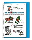 Lustige und freche XL Geburtstagskarte zum 18. Geburtstag, zur Volljährigkeit, Karte zum 18, zum...