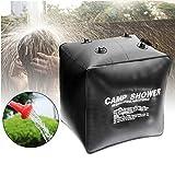 Szlsl88 40L Solar Dusche Tasche für Camping, Faltbar Solar Heizung Wild Baden Beutel für Außen...