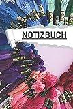 Notizbuch: Wolle und Nähgarn liniert I DIN-A5 I 120 Seiten in Cremefarben I Journal