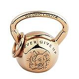 ANAZOZ Herren Titan Halskette Kettlebell Halskette mit Anhänger Silber