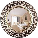 WXF Spiegel Runde Europäischer Wandbehang Große Badezimmer Wohnzimmer Schlafzimmer-Dekor WC Vanity