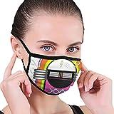 Fashion Mouth Masks,Cartoon Vivid Ethnic Design Vintage Music Notes Radio Box Artwork,Anti-Dust Mask...