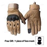 Bruce Dillon Touch Screen Hard Knuckle Full Finger Winter Motorcycle Gloves Motocross Motocross...