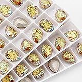 Top Glitzer Patina Tropfen K9 Glas Kristall Strass Applikation zum Basteln Kleidung Perlen DIY...