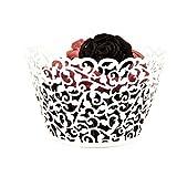 ROSENICE Cupcake Wrappers 50 Stück Muffinförmchen Hochzeit Muffins Backförmchen für Weihnachten...