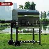 Framy Outdoor Grill Wagon, XXL Raucher Grill Holzkohle Grill Garten Garten Holzkohle Grill Raucher -...