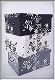 3er Set Aufbewahrungsbox in 3 Farben (weiß, schwarz und grau) mit jeweils 45 Liter Inhalt -...