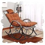 Chair Schaukelstuhl Allwetter Klassik Lounge Polstersessel mit Fußbank Retro Sonnenliegen Porches...