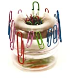 Paper Clip Holder, 2-1/4'X2-1/4', Frosted Clear, Sold AS 1 each