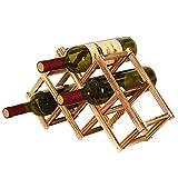 Deusa Weinregal aus Holz 3/6/10 Flaschenhalter Faltbar Getrnk Flasche Bar Display Regal B