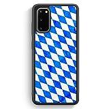 Bayern Flagge Grunge - Silikon Hlle fr Samsung Galaxy S20 - Motiv Design Bayrisch - Cover Handyhlle...