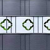 M-tec technology GmbH Dekor Hart - PVC Sichtschutzstreifen | Motiv Florenz H=19cm x L=2,52m...