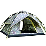 Tangzhi Camping Zelt Automatische Pop Up 3-4 Person Camouflage Familienzelt Regendicht Leichtbau...