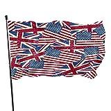 WDDHOME Amerikanische Usa Flagge Großbritannien Uk Flag Decor Flags Flagge Für Raumdekor 3x5...