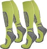 normani 4 Paar Ski-Socken für Damen und Herren Farbe N Gelb Größe 39/42
