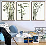 FANGYUAN Bamboo Leaf Poster Decoration New Chinese Unreal Abstract Painting Print Wall Art Canvas...