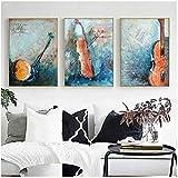 YANGDINGYAO Leinwand Malerei abstrakte Farbe Musikinstrument Violine Leinwand Malerei Bild Moderne...