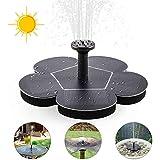 Solar Springbrunnen Solar Teichpumpe mit Solar Panel Eingebaute Batterie Wasserpumpe Solar...
